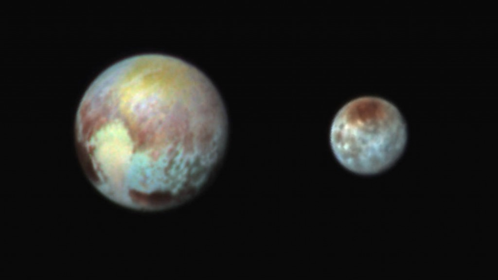 Pluto and Charon False Color